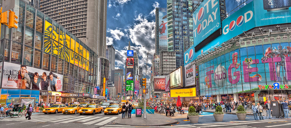 Seth Walters HDR New York Manhattan Times Square Panorama